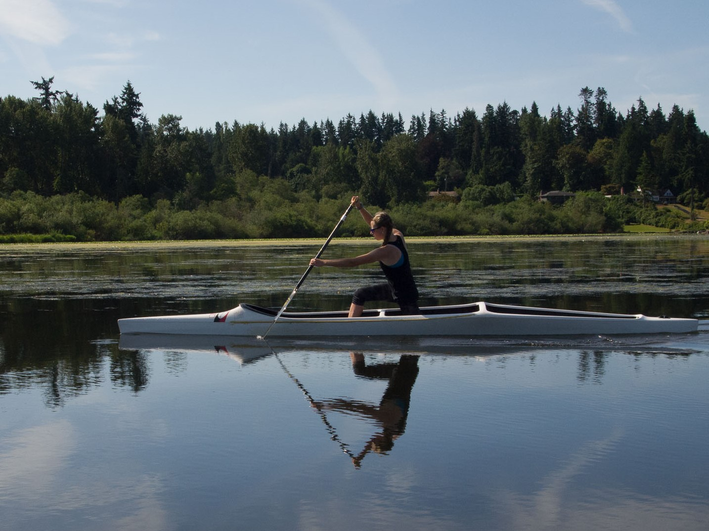 Sprint canoe on Lake Washington
